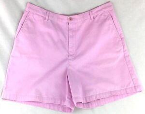 Lands-End-Shorts-Women-039-s-Sz-16-Regular-Cotton-Twill-Lilac-Pink-Walking-4-Pockets