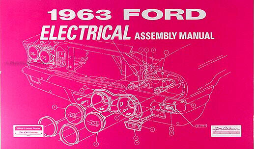 1963 Ford Galaxie Electrical Assembly Manual Wiring Diagrams 63 300 500 427 For Sale Online