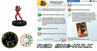 Marvel Heroclix RED SHE-HULK 020 Fear Itself NM Super Rare!