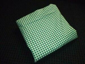 Ralph Lauren Hunter Green Medium Gingham KING Flat Sheet 100% Cotton CRISP