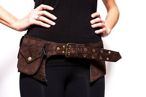 Hip Unisex Suede Waist Pack Bag Party Style Belt Utility man Pouch Burning rave