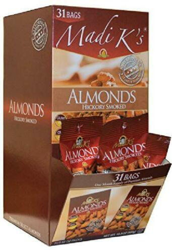 Package may vary Madi K/'s Hickory Smoked Almonds 31 Count