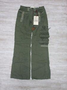NEW-Da-Nang-Women-039-s-Pants-Pockets-ARMY-GREEN-TWW505-Size-X-SMALL