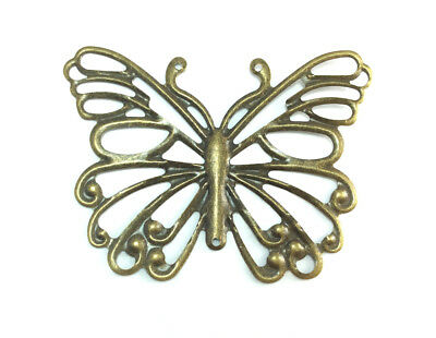 Butterfly Antique Silver Charms Pendants DIY Jewelry Findings 36x29mm 12//30pcs