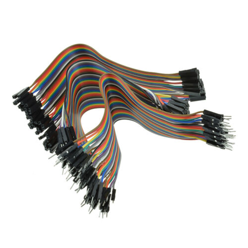 40pcs 20cm 2.54mm Male to Male Jumper Wire Dupont Cable Arduino ASS