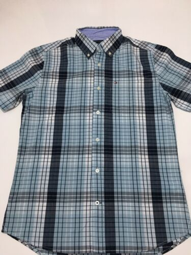 TOMMY HILFIGER men/'s Short Manches Classic Fit Chemise Taille M