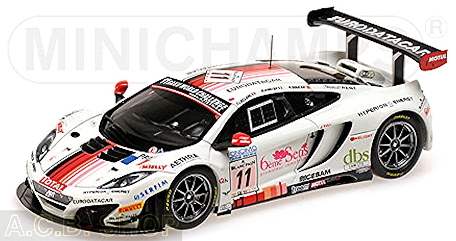 Mclaren 12c Gt3 24 H Spa 2013 - Art Grand Prix  43 Minichamps