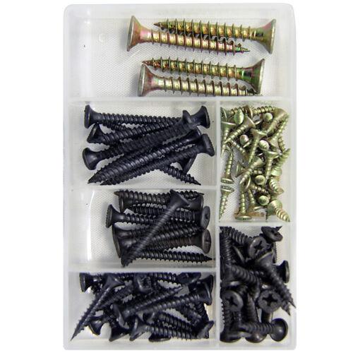 Ganci KIT Metallo // Wood // per truciolato Assortimento viti Kit Set 56-130pcs