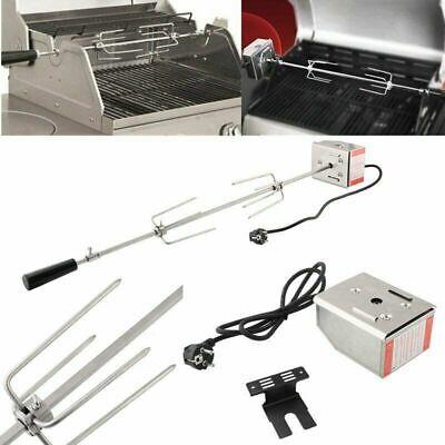 Acciaio Inox Girarrosto Elettrico da 107 cm con Motore 220-240 V Barbecue Grill