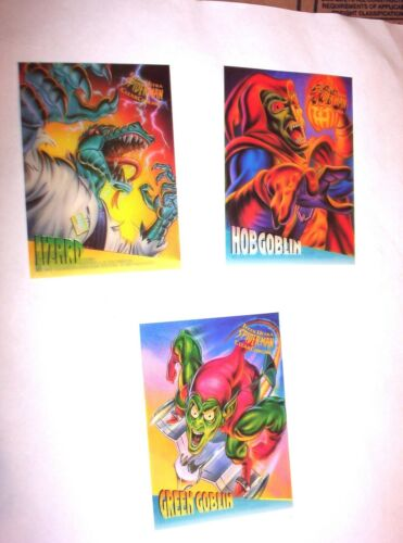 VENOM 1995 FLEER ULTRA SPIDERMAN CLEARCHROME INSERT CARD SINGLES NOT SET!
