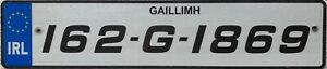 Southern Ireland Co Galway Eire Irish Number Licence License Plate 162-G-1869