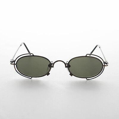 FäHig Oval 90er Jahre Metall Vintage Sonnenbrille Rx Qualität Bronze/grün -klaus PüNktliches Timing