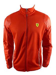 d88dffafcb36 Image is loading Puma-Ferrari-Softshell-Jacket-Sweater-Jacket-Red-F1-