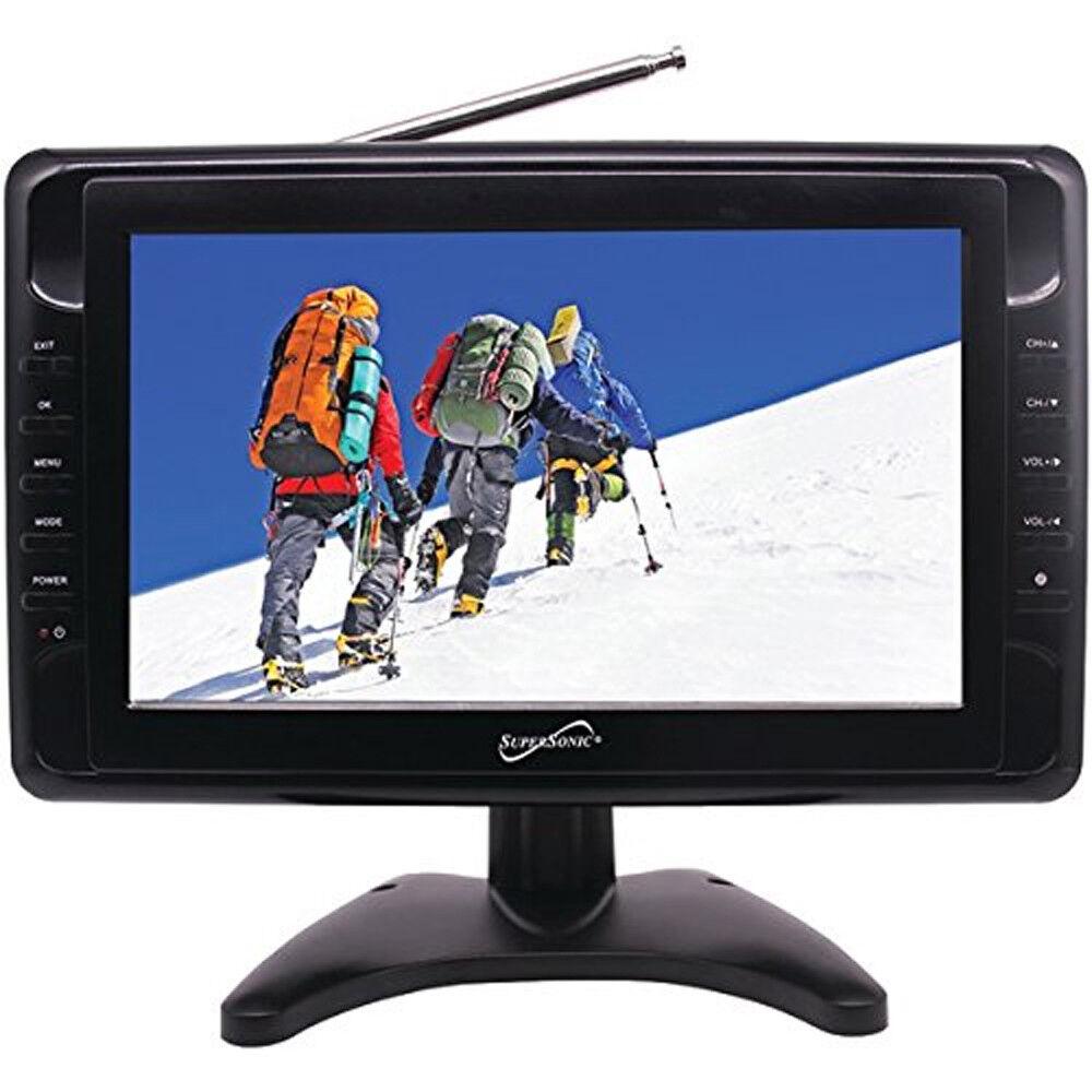 "Supersonic  10""USB SD AV Input Portable Digital Widescreen LCD TV - SC-2810"