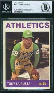 Tony-Larussa-Bas-Beckett-Coa-Autograph-1964-Topps-Rookie-Authentic-Hand-Signed