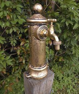 Standbrunnen SÄule Brunnen Wasserhahn Garten Antik Nostalgie Stil