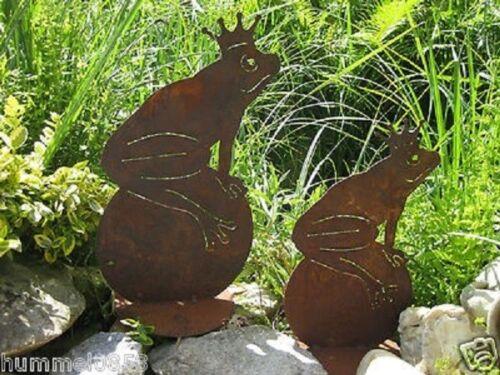 Nobile Ruggine rana Decorazione Giardino Stagno personaggio scultura orti rana RE SFERA