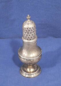 Vtg Antiqu English Sterling Silver George Iii 1802 London Sugar Shaker Muffineer New Varieties Are Introduced One After Another Antiques
