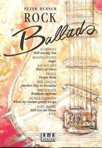 1 Bleistift Band 1 für Gitarre Peter Bursch/'s Rock Ballads