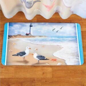 Lighthouse Seaside Escape Coastal Scene Non-Slip Bathroom Mat Rug