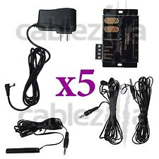 LOT x5 Hidden IR Remote Control Repeater Extender Infrared Emitter receiver Kit