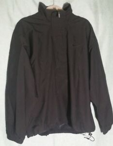 40fcf8bf0b5e Nike Storm Fit 146N Men s Golf Jacket Large L Black Half Zip Vented ...