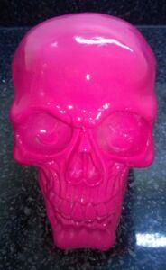 Halloween-Skull-Skeleton-head-Bright-Pink-Colour-Style-Ornament-Model-Resin