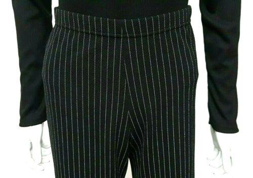 * Nouveau 2020 Look Black Pinstripe Palazzo Jambe Large Pantalon stretch taille haute taille *