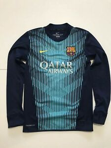 d37417b8d FC Barcelona Nike player issue 2013 14 Therma-fit Training pre match ...