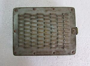 Vintage-Old-Brass-Hand-Crafted-Unique-Shape-Kitchenware-Grater-Collectible