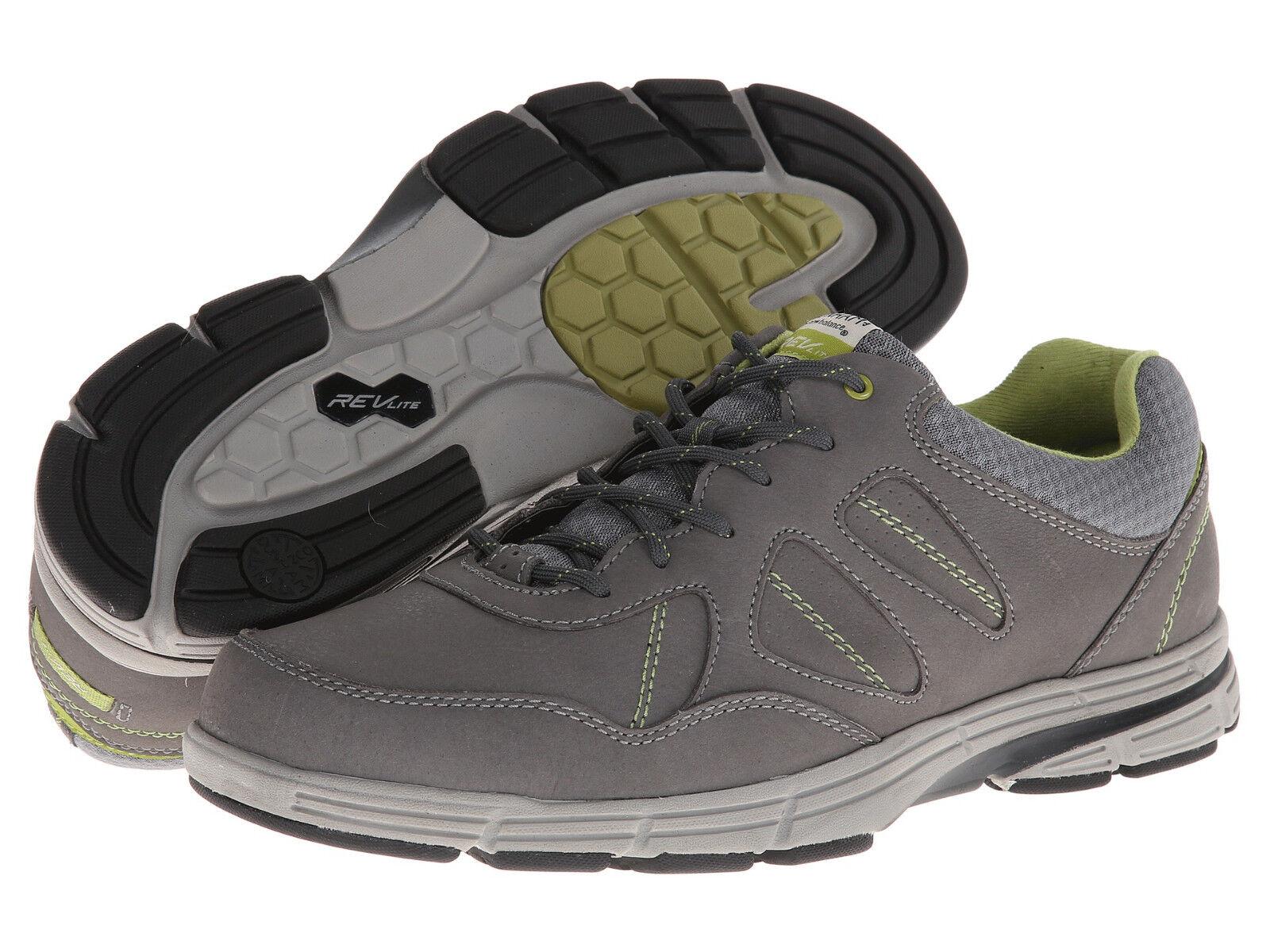 Dunham Men's REVsharp Sz US 10 D Grey Nubuck Leather Oxfords shoes  140
