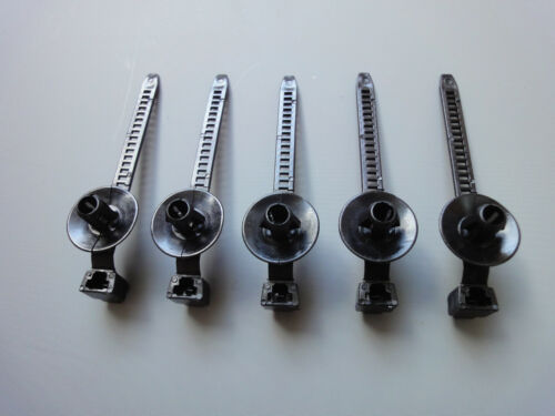 SET OF 5 CABLE ZIP TIE WRAP PUSH RIVET CLIP WIRING LOOM HARNESS QUICK RELEASE