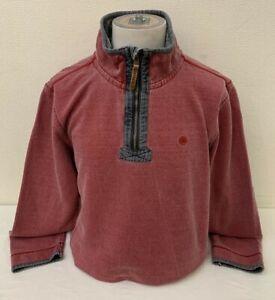 Fat-Face-Men-039-s-Red-Cotton-Long-Sleeve-Zip-Neck-Sweatshirt-Large
