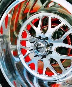RGB-LED-Wheel-RimLight-Changing-Heavy-Duty-Aluminum-Rings-4Rings-Brake-Light