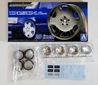 AOSHIMA 53737 Tuned Parts 40 1/24 Glassenheit Disix Revo 20inch Tire & Wheel Set