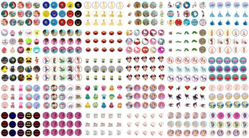 """✿ 15 or 30x 1/"""" ROUND PRE CUT BOTTLE CAP IMAGES ANY DESIGN see message 4 choice ✿"""