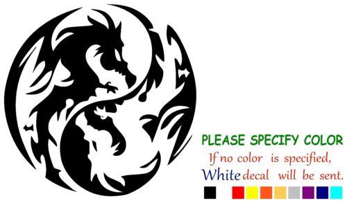 "Dragon Ying Yang Tribal Funny Vinyl Decal Sticker Car Window laptop tablet 9/"""