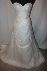 NWT-Size-8-Ivory-Justin-Alexander-SWEETHEART-6096-long-formal-bridal-gown