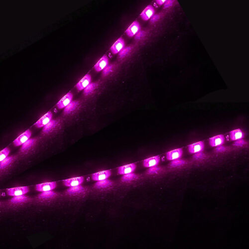 8Pack Purple 15 LED 30cm Car Motor Flexible Waterproof Strip Light SMD 12V Sales