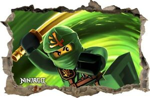 Wandaufkleber loch in der wand 3d lego ninjago wand aufkleber wandtattoo 91 ebay - Lego wandtattoo ...