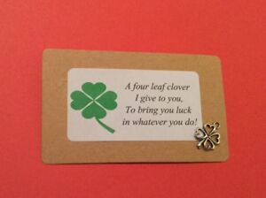 new venture cards four leaf clover cards good luck cards positive cards new job cards positive vibe cards All of the luck card