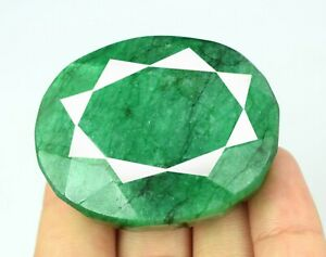 Season End Sale 262.35 Ct Brazilian Green Emerald Gemstone Natural Oval Cut