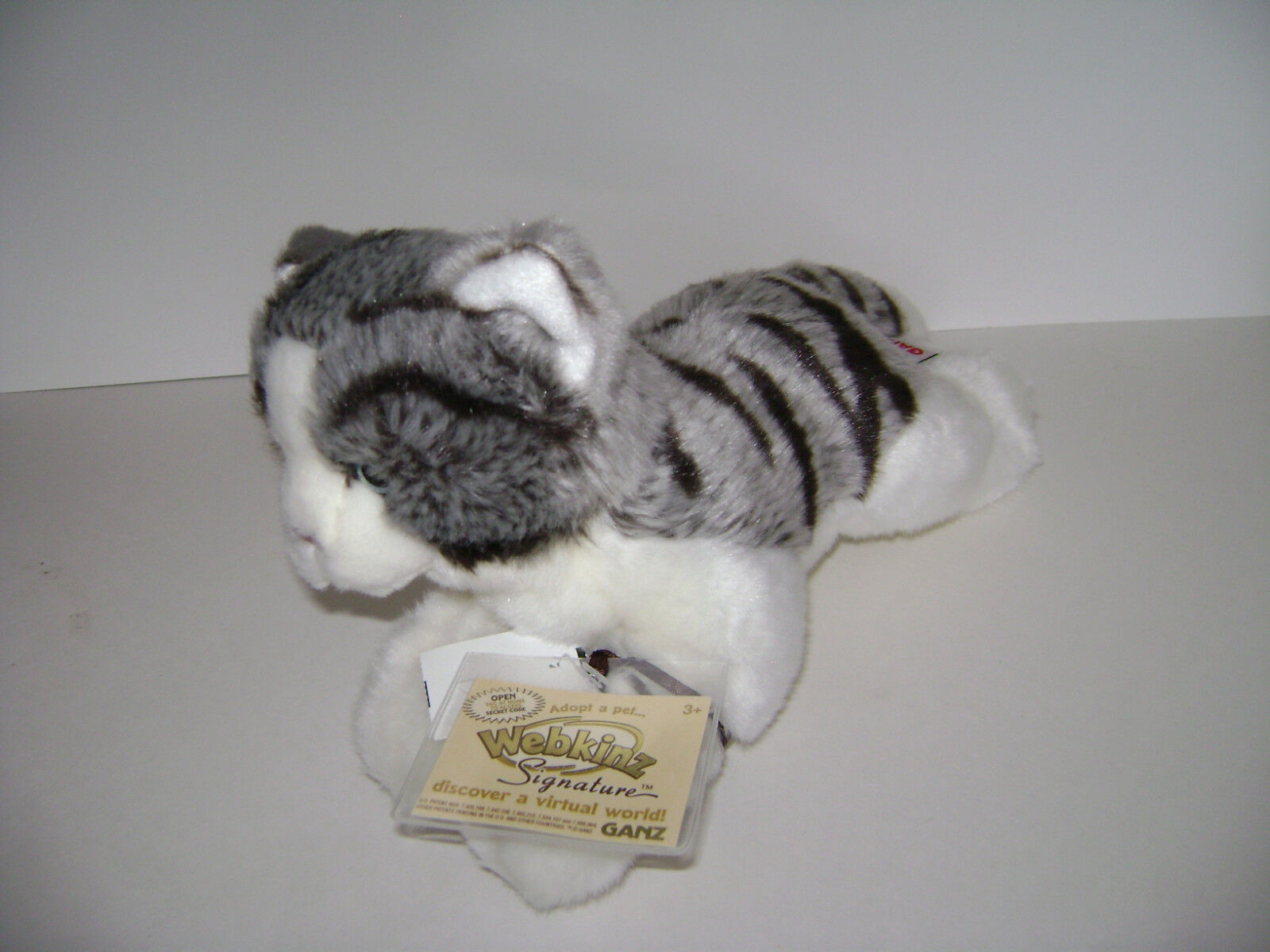 Webkinz Signature grau TABBY CAT  WKSS2005 GANZ  PLUSH STUFFED KITTY NEW W/ CODE