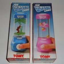 Vintage 1980s TOMY UK Water Games x 2 - Jungle Gym & Cat's Cradle - MIB / MISB