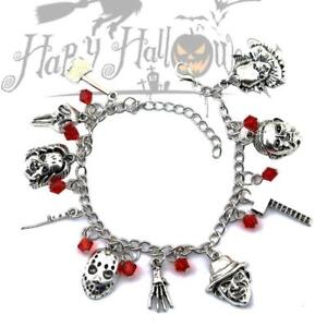Horror-Movie-Charm-Bracelet-Gift-Chuckie-Pennywise-Ghostface-Halloween-Creepy-LZ