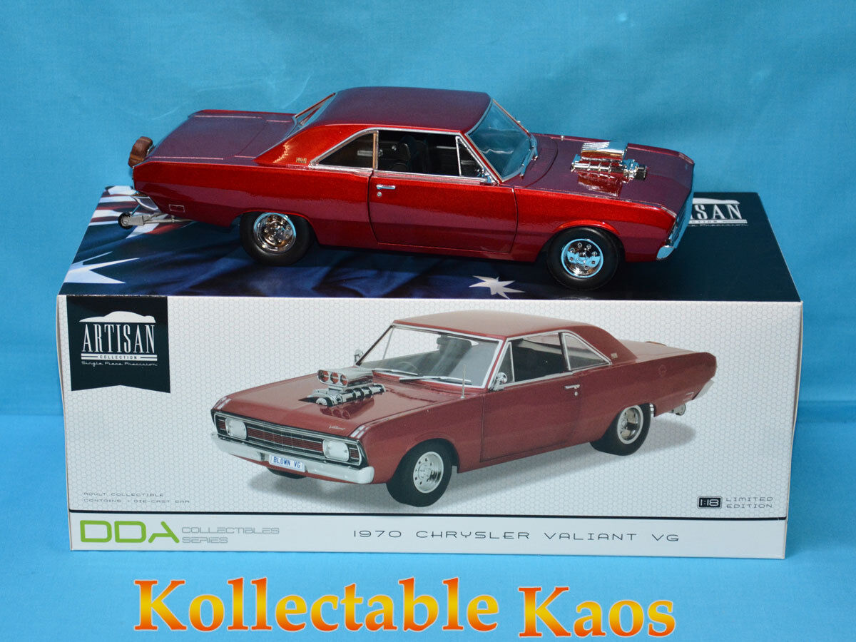 1 18 DDA - 1970 Chrysler VG Valiant Drag Car - Candy Apple rouge