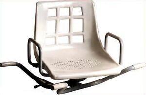 Sedia sedile per vasca da bagno girevole in acciaio per anziani
