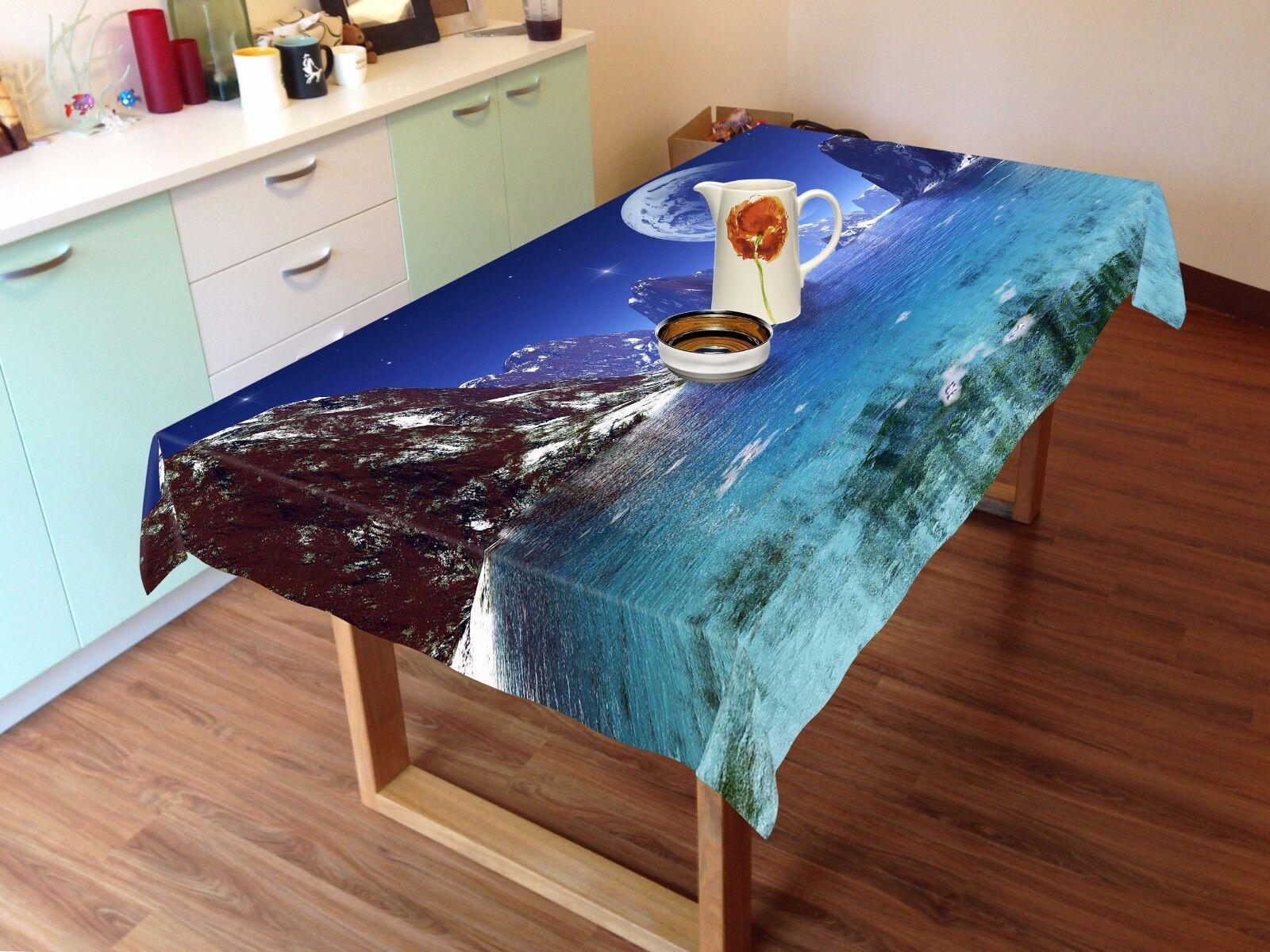 3D Planet Moon Tablecloth Table Cover Cloth Birthday Party AJ WALLPAPER UK Lemon