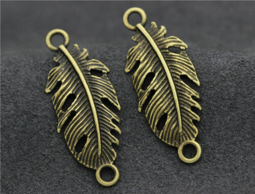 Tibetan Silver//Bronze Beautiful Leaf Foliage Jewelry Finding Charm DIY Pendant H