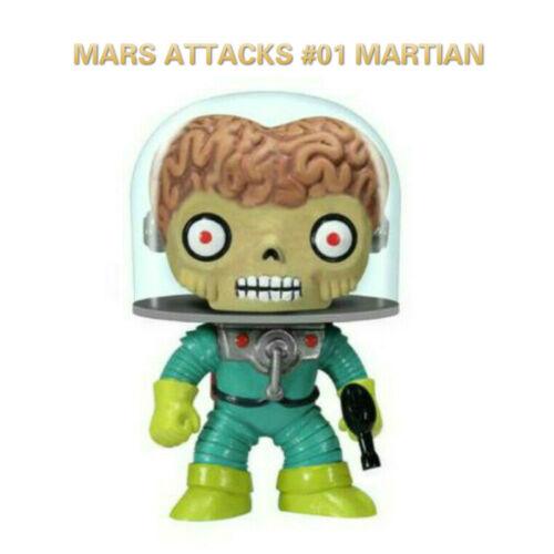 Funko POP MARS ATTACCHI #01 Marziano VINILE ACTION FIGURE Brinquedo Modello Giocattolo Regali